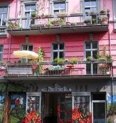 Colourful facade, Prenzlauer Berg, Berlin