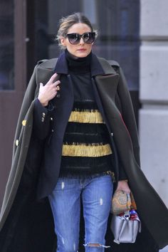 OLIVIA PALERMO Out and About in New York 12/23/2016