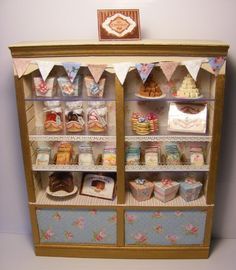 bakery-- jars, boxes, stands, and cubbies