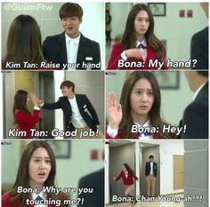 Lee Bo Na & Kim Tan. ^_^ Krystal was perfect in this drama. Heirs Korean Drama, Korean Drama Funny, Korean Drama Quotes, The Heirs, Korean Dramas, Kdrama Memes, Funny Kpop Memes, All Meme, Drama Fever