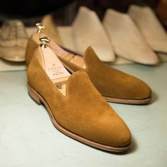 Introducing one of our best sellers 80384 now in tobacco suede discover at Carmina website (link in bio) #carminashoemaker #carmina #カルミナ #goodyearwelted #slippers #loafers