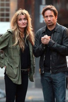 "David Duchovny and Natascha McElhone Photos: David Duchovny Films ""Californication"" in the West Village"