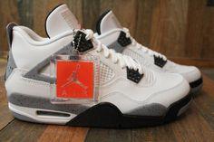 Air Jordan 4 Retro - - 308497 103 nike flystepper mens hi top trainers 677576 sneakers shoes Nike Mens Yeezy. Jordan 4 White Cement, Black Cement, Jordan Iv, Jordan Retro 4, Cute Shoes, Me Too Shoes, Mens Yeezy, Jordan Shoes Girls, Kicks Shoes