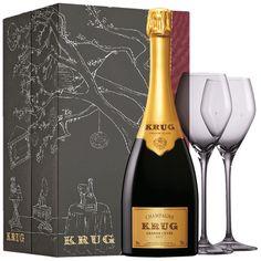 Krug Champagne Grande Cuvee Sharing Set – #Giftbox Glasses