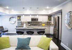 Home in Arlington, Virginia. Lighting design by Antonella Bonvicini in our Arlington Lighting Showroom.