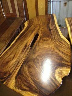 Koa Wood Furniture Slab Table Conference Room Reclaimed Natural Edge Table
