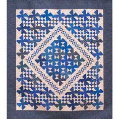 Blue Me Away Quilt Pattern @ Clotilde