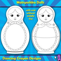 Create your own match-up games and puzzles with these Matryoshka doll graphics.  Great for making teaching resources.  $