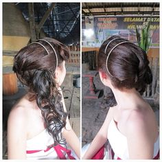 Prewedding hairdo. Bride: Suet Ying #wedding #bride #longhair #curly #hairstyle