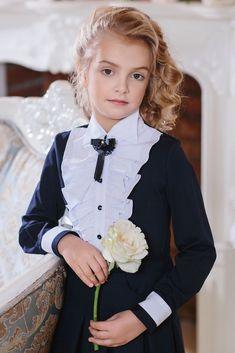 Блузка для девочки арт.153 613 Синий