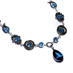 Neo victorian Blue Necklace by Catherinette Rings