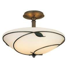 "Hubbardton Forge 16"" Wide Twining Leaf Ceiling Light Fixture"