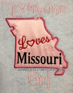 MISSOURI State Applique Everyone loves a Missouri by astitchforyou, $3.75