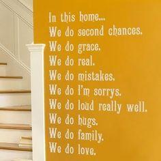 In this home... cute idea!