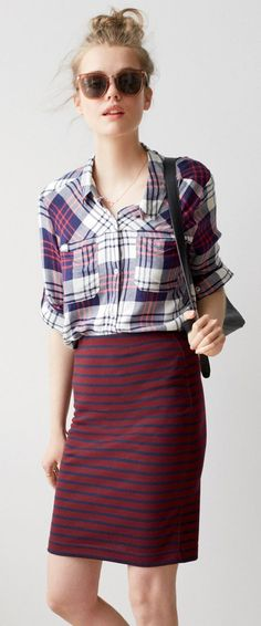 Mixed patterns  @roressclothes closet ideas #women fashion outfit #clothing style apparel