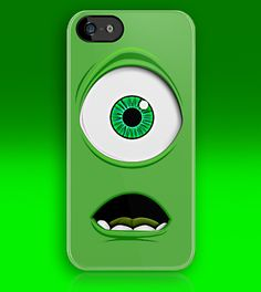 Cute Monster inc Green Cyclops apple iphone 5, iphone 4 4s, iPhone 3Gs, iPod Touch 4g case