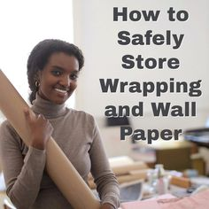 How to Safely Store Wrapping and Wall Paper. Haley's Hints shows you how to keep the corners of your wallpaper and holiday wrapping paper straight and bug free! #HaleysHelpfulHints  #CupRockDIY #haleyshints