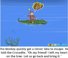 The Crocodile and The Monkey Moral Story with Pictures for Kids in English. English Stories For Kids, English Worksheets For Kids, Short Stories For Kids, English Story, Children Stories, Republic Day Speech, Crocodile Pictures, Picture Story For Kids, Easy Cartoon Drawings