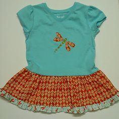 This tutorial shows how to make your own Tshirt dress from a Tshirt and some fabric scraps.