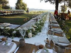 Country chic wedding tavolo imperiale