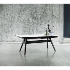 Skovby Uitschuifbare Tafel #11 Wit - Zwarte Poten - 183-275 cm - ook hout/wit