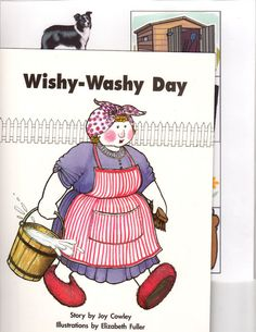 Mrs.Wishy-Washy Day Literacy Bag Center-Joy Cowley--Wright Group=Pre-K-K