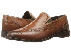 Nunn Bush - Norris Wing Tip Double Gore Slip-On (Cognac) Men's Slip-on Dress Shoes