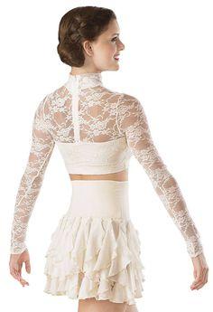 Floral Lace Turtleneck Crop Top | Balera™