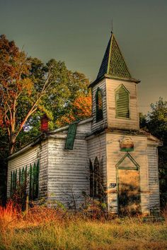 Abandoned church in Fall