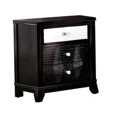 Add a spark to your home with the Jazlyn 3-drawer Croc Faux Mirrored Accent Table. Offering plenty of space for storage and its spacious table top serves perfectly for a vase with flowers, books or an...