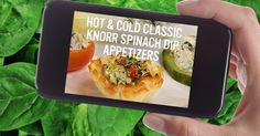 Is company coming tonight? Whip up these Hot & Cold Spinach Dip Appetizers two hours before your (very lucky) guests arrive. Knorr Spinach Dip, Creamed Spinach, Classic Spinach Dip Recipe, Dry Soup Mix, Dip Appetizers, Water Chestnut, Bread Bowls, Potato Chips, Fresh Vegetables