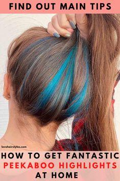 35 Modern Peekaboo Hair Ideas: Spice Things Up & Get No Damage Under Hair Dye, Under Hair Color, Hidden Hair Color, Two Color Hair, Hair Color Streaks, Cool Hair Color, Blonde Peekaboo Highlights, Peekaboo Hair Colors, Funky Hair Colors
