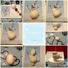 Frozen: tutorial topper Olaf de fondant http://sucredemaduixa.blogspot.com.es/2014/11/frozen-tutorial-topper-olaf-de-fondant.html