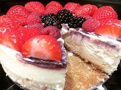 Berry swirl cheesecake (made from the Junior's NY cheesecake cookbook)