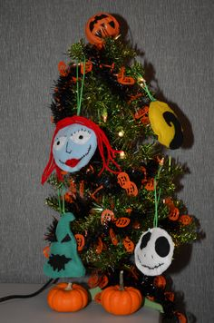 Make your very own felt ornaments inspired by The Nightmare Before Christmas.