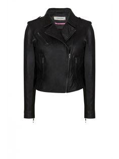NAF NAF - Veste en cuir style perfecto BLACK - Cuirs Femme
