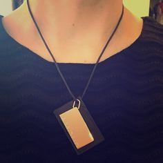 """🎉Hermes Amour Necklace Authentic Hermes necklace in palladium and black leather, brand stamp on the back of pendant. Gently used, surface scratches are present on both sides. There is wear to the leather cord, especially by the spring clasp. Leather rectangle measures 2"""" X 1.3"""", cord is 8.5"""" long. ✨Smoke-free home Hermes Jewelry Necklaces"""