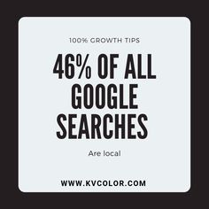 46% of all Google searches are local