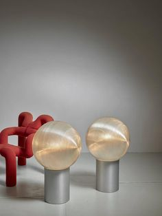 Hilde Roth Pair of Floor Lamps with Plastic Globe Diffuser, Germany, 1970s For Sale at 1stdibs