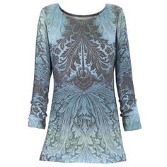 Blue Baroque Top - New Age, Spiritual Gifts, Yoga, Wicca, Gothic, Reiki, Celtic, Crystal, Tarot at Pyramid Collection