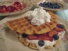 Making Frugal Living {Simply} Extravagant Aldi Recipes, Frugal Living, Waffles, Berries, Favorite Recipes, Breakfast, June, Food, Morning Coffee