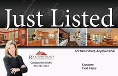 Just Listed Postcards, postcard marketing for Realtors. Prices include graphics design, shipping and tax.