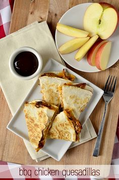 Quick & Easy BBQ Chicken Quesadillas