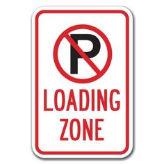 Street & Traffic Sign Wall Decals - No Passing Zone Word Sign - 12 inch Removable Graphic