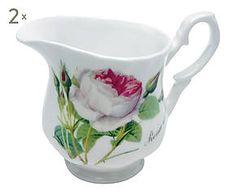 2 Crémiers REDOUTE porcelaine, multicolore - 300 ml