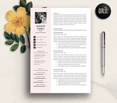 Resume Template  Cv  Cover Letter By ProGraphicDesign On