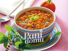 Zupa z czerwonej soczewicy Chana Masala, Catering, Chili, Tasty, Vegan, Cooking, Ethnic Recipes, Food, Drink
