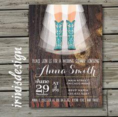 Western Bridal Shower Invitation Party ideas Pinterest Western
