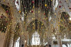 Rebecca Louise Law is known for her breathtaking installations that consist of thousands of hanging flowers suspended overhead.