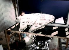 Post with 990503 views. behind the scenes photos of the Star Wars Trilogy Star Wars Pictures, Star Wars Images, Millennium Falcon Model, Nave Star Wars, Star Wars Episode Iv, Star Wars Vehicles, Star Wars Models, The Empire Strikes Back, Star Destroyer